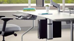 Cpu Holder Under Desk Mount Small by Cpu Holder Stands Desk U0026 Space Saver Steelcase
