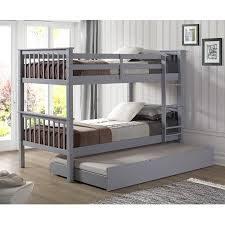 solid wood twin trundle bed grey walmart com