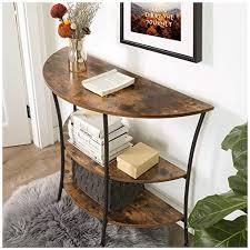 vasagle konsolentisch sideboard mit 3 ablagen beistelltisch halbrund wohnzimmer flur schlafzimmer einfacher