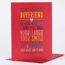Birthday Card Gorgeous Boyfriend Only 89p