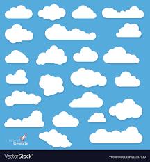 100 Flat Cloud Design Clouds