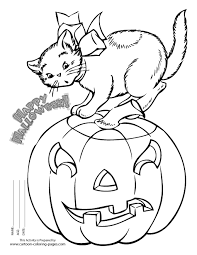 Halloween Coloring Pages Printables Black White