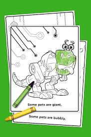 SaveSave To Pinterest Pets Of Nick Jr Coloring Pack