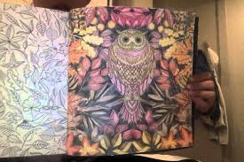 Finished Page Of Secret Garden Colouring Book