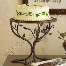 COTTAGE CHIC Bird PEDESTAL CAKE STAND Sparrow Metal NEW