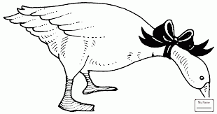 Coloring Pages Gooses Birds Flying Snow Goose
