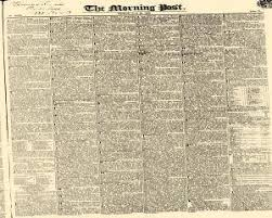 m t o la chaise dieu morning post newspaper archives jun 22 1832