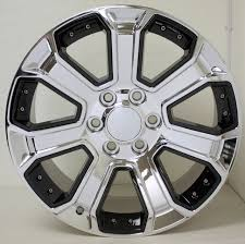 100 Oem Chevy Truck Wheels Chrome With Black Insert 22