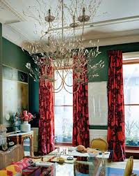 Red Dining Room Curtains Endearing With
