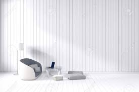 3d rendering wohnzimmer minimalistischen interieur hellen raum mit weißen stoff sofa an der vorderseite aus holz fliesen wand und boden minimalismus