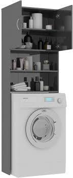tidyard waschmaschinenschrank hochschrank badschrank badezimmerschrank badregal badezimmer schrank toilettenregal 64x25 5x190 cm hochglanz grau