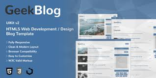 100 Modern Design Blog Geek HTML5 Web Development Theme