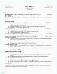 College Dance Resume Examples 48 Inspirational Teacher Example