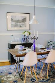 A Mid Century Blue And White Dining Room Remodel