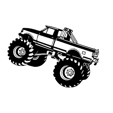 100 Monster Truck Decals Vinyl Big Wall Sticker Removable Pvc Off Road Vehicle