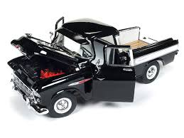 100 Cameo Truck Amazoncom 1957 Chevrolet 3124 Pickup Onyx Black 100th