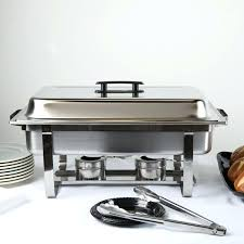 Small Chafing Dish Choice Economy 8 Qt Full Size Stainless Steel Ceramic Dishes