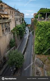 100 Houses In Sorrento View Road Beautiful Town Italy Stock