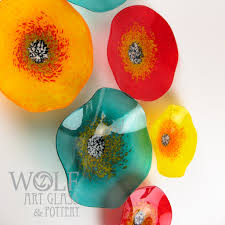 Blown Glass Wall Art Ornaments And Recycled Bottle Gifts Wolf Of Austin Texas