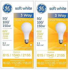 three way soft white incandescent bulb 50 100 150 watts gel41280