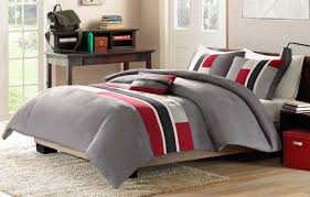 Bone Collector Bedding by 4 Piece Red Grey Black Comforter Set Full Queen Bed Size Modern