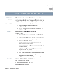 Print Production Manager Resume - Online Resume Builders ... Product Manager Resume Example And Guide For 20 Best Livecareer Bakery Production Sample Cv English Mplate Writing A Resume Raptorredminico Traffic And Lovely Food Inventory Control Manager Sample Of 12 Top 8 Production Samples 20 Biznesasistentcom