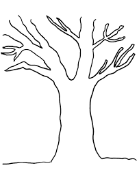 Apple Tree Without Leaves Coloring Pages