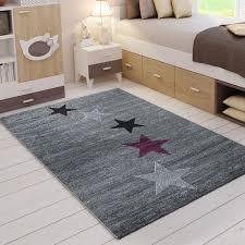 rio9426 lila kurzflor teppich vimoda homestyle