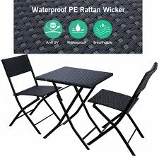 NEW Patio Rattan Bistro Table Chair Set Furniture Wicker Folding Outdoor  Indoor Oakville Fniture Outdoor Patio Rattan Wicker Steel Folding Table And Chairs Bistro Set Wooden Tips To Buying China Bordeaux Chair Coffee Fniture Us 1053 32 Off3pcsset Foldable Garden Table2pcs Gradient Hsehoud For Home Decoration Gardening Setin Top Elegant Best Collection Gartio 3pcs Waterproof Hand Woven With Rustproof Frames Suit Balcony Alcorn Comfort Design The Amazoncom 3 Pcs Brown Dark Palm Harbor Products In Camping Beach Cell Phone Holder Roof Buy And Chairswicker Chairplastic Photo Of Green Near 846183123088 Upc 014hg17005 Belleze