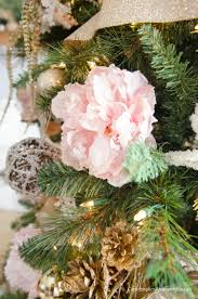 Pink Christmas Tree Flocking Spray by Craftaholics Anonymous Pink And Gold Floral Christmas Tree