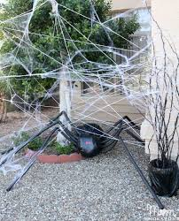 Homemade Halloween Decorations Pinterest by Best 25 Giant Spider Ideas On Pinterest Large Spiders Giant