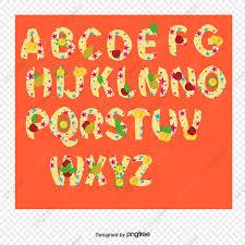 26 Cartas De Frutas Vector Creativo 26 Letras Creative