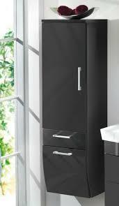 badezimmer hochschrank hochglanz anthrazit bad badmöbel badschrank schrank