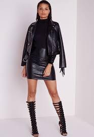 missguided mini jupe en similicuir tall vêtements