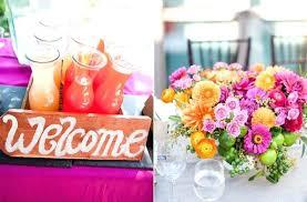 Summer Center Piece Pink Lemonade Wedding Color Palette Spring Flower Ideas Reception Centerpiece