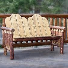white pine log cabin furniture