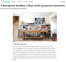 100 European Interior Design Magazines Luxury Sicily Villa Idda Featured In House Beautiful Magazine