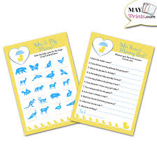 OTC The Baby Name Game Baby Shower Game 4 Dz