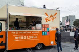 100 Brisbane Food Trucks Melbourne Australia August 8 2015 Mr Burger Is A Melbourne