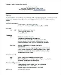 Sample Resume For A Nurse Feat New Nurses
