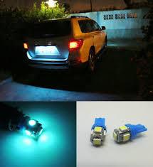 2x aqua blue led license plate tag light bulbs t10 158 168 194