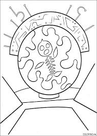 Coloring Page Chicken Little Fish Skeleton