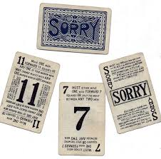 Sorry Game Cards Printable