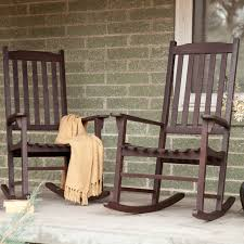Coral Coast Indoor Outdoor Mission Slat Rocking Chairs Dark