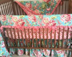 Teal And Coral Baby Bedding by Coral Baby Bedding Etsy