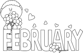 february clipart black and white Google Search