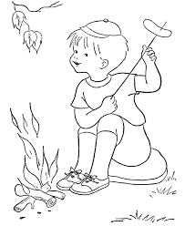 Preschool Camping Coloring Pages