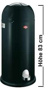 wesco kickmaster maxi mülleimer 40 liter schwarz de