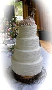Shabby Chic Peony Rustic Wedding Cake