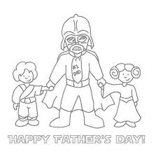 Star Wars Theme Father Day Card Coloring Pages
